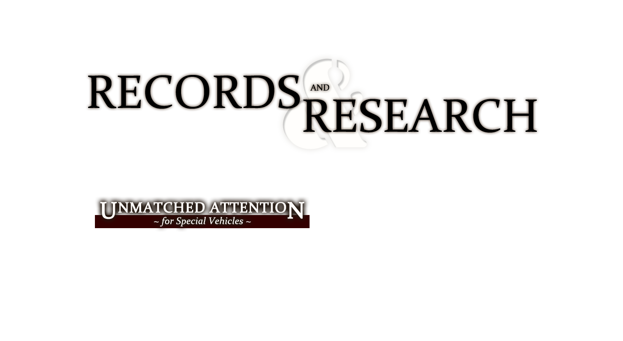 Records & Research: Consulting services helping to determine manufacturing times, identification, authentication, restoration processes, company history/background.